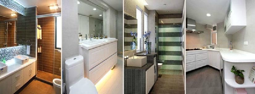 家居屋苑住宅村屋寫字樓室內設計裝飾工程、維修翻新浴缸浴室浴池,清拆還原廚房浴室組合地櫃廚房廚櫃、翻新維修地板車磨打水晶地臘工程